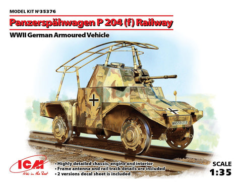 ICM Military Models 1/35 WWII German Panzerspahwagen P204(f) Railway Armored Vehicle Kit