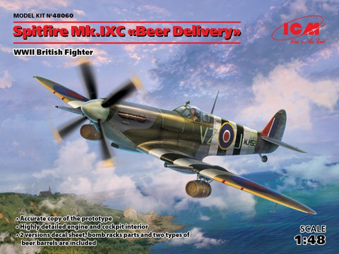 ICM Aircraft 1/48 WWII British Spitfire Mk IXC Beer Delivery Fighter Kit