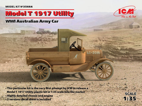 ICM Military Models 1/35 WWI Australian Model T 1917 Utility Army Car Kit