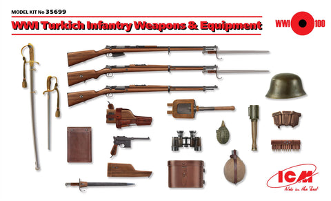 ICM 1/35 WWI Turkish Infantry Weapons & Equipment (New Tool) Kit