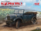 ICM 1/35 WWII German le.gl.Pkw Kfz1 Light Personnel Car (New Tool) Kit
