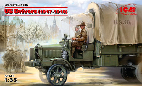 ICM Military Models 1/35 US Drivers 1917-1918 (2) (New Tool) Kit