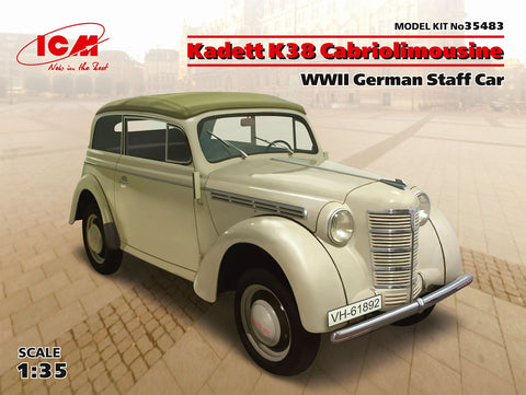 ICM 1/35 WWII German Kadett K38 Convertible Staff Car Kit