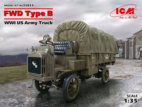 ICM 1/35 WWI US FWD Type B Army Truck (New Tool) Kit