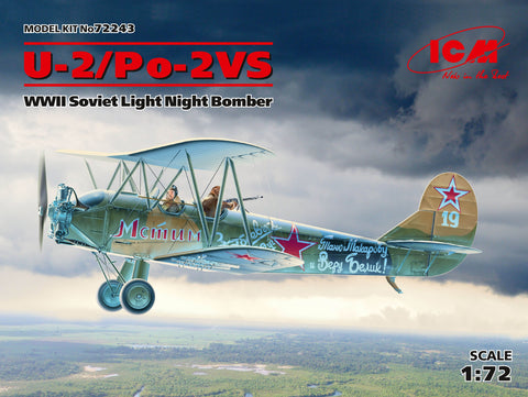 ICM Aircraft 1/72 WWII Soviet U2/Po2VS Light Night Bomber (New Tool) Kit