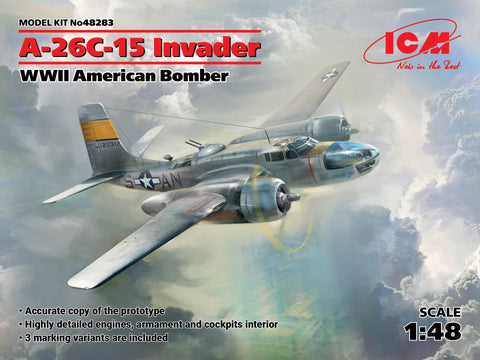ICM Aircraft 1/48 WWII USAF A26C15 Invader Bomber Kit