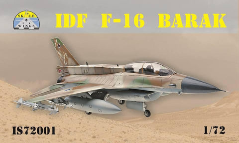 Modelsvit Aircraft 1/72 F16 Barak IDF Fighter (Skale Wings) Kit