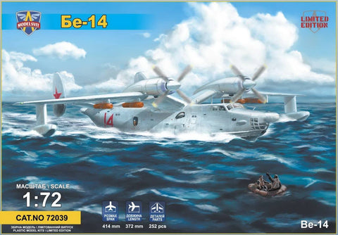 Modelsvit Aircraft 1/72 Beriev Be14 All-Weather SAR Flying Boat Aircraft Ltd. Edition Kit (New Tool)