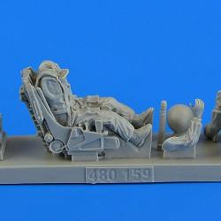 Aerobonus Details 1/48 Su27 Flanker Soviet Fighter Pilot w/Ejection Seat for ACY Resin Kit