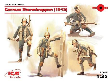 ICM Military Models 1/35 German Sturmtruppen 1918 (4) Kit