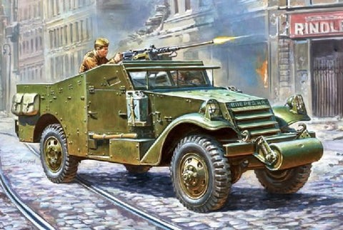 Zvezda Military 1/35 M3 Armored Scout Car Kit