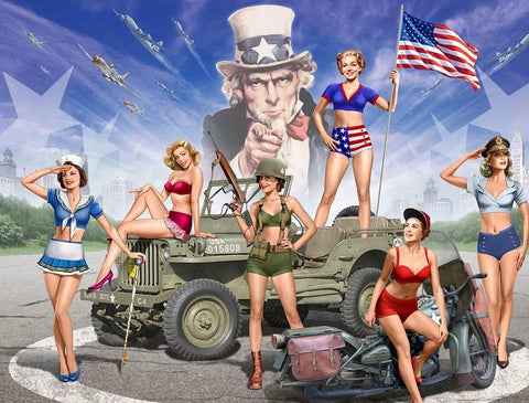 Master Box Ltd 1/35 American Pin-Up Girls (6) Kit