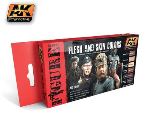 AK Interactive Figure Series: Flesh & Skin Colors Acrylic Paint Set (6 Colors) 17ml Bottles