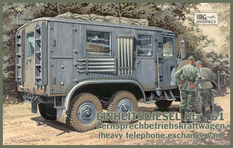 IBG Military Models 1/35  WWII Einheits Diesel Kfz61 German Communications Van Kit