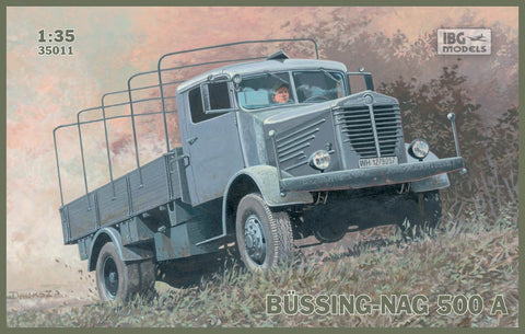 IBG Military Models 1/35  Bussing-Nag 500A Canvas-Type Stake Body Truck Kit
