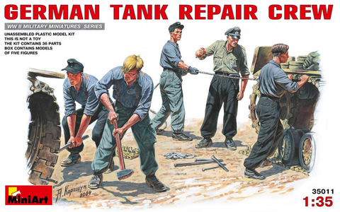 MiniArt 1/35 German Tank Repair Crew (5 Figures) Kit