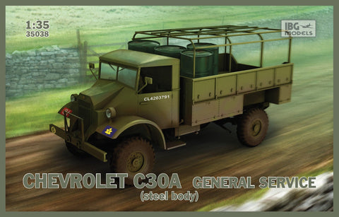 IBG Military 1/35 Chevrolet C30A General Service Steel-Type Body Truck Kit