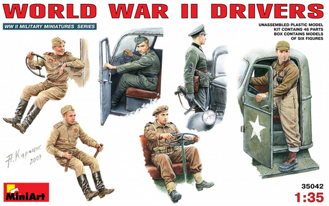 MiniArt 1/35 WWII Drivers (6 Figures) Kit