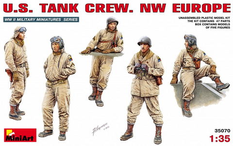 MiniArt 1/35 US Tank Crew NW Europe (5 Figures) Kit