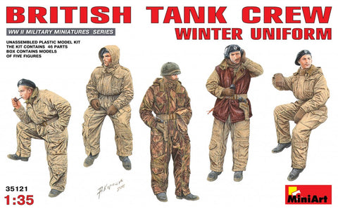 MiniArt Military Models 1/35 British Tank Crew Winter Uniform Kit