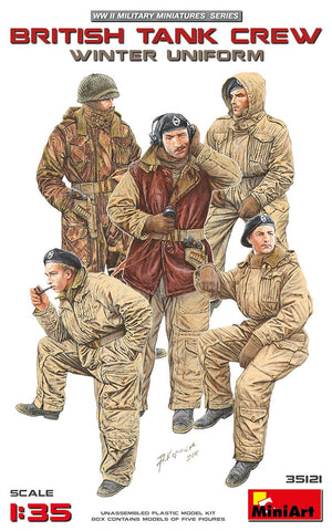 MiniArt Military Models 1/35 British Tank Crew Winter Uniform (5) Kit