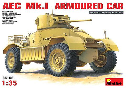 MiniArt 1/35 AEC Mk I Armored Car Kit