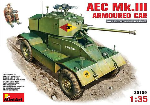 MiniArt Military Models 1/35 AEC Mk III Armored Car Kit