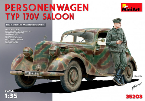 MiniArt Military Models	1/35 Type 170V Saloon 4-Door Personnel Car Kit