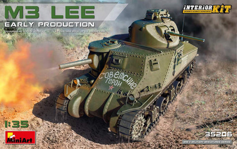 MiniArt Military 1/35 M3 Lee Early Production Tank w/Full Interior (New Tool) Kit