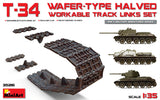 MiniArt Military 1/35 T34 Wafer-Type Halved Workable Track Link Set for DML, ZVE, TAM, AFV