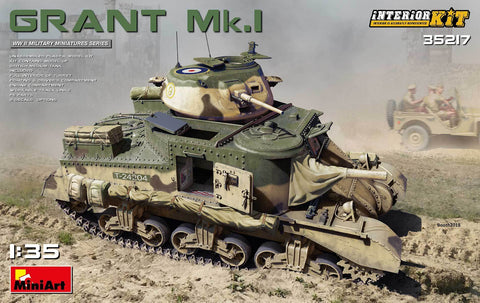 MiniArt Military 1/35 M3 Grant Mk1 Tank w/Full Interior (New Tool) Kit