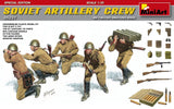 MiniArt Military 1/35 WWII Soviet Artillery Crew (5) w/Ammo Boxes & Weapons Special Edition Kit