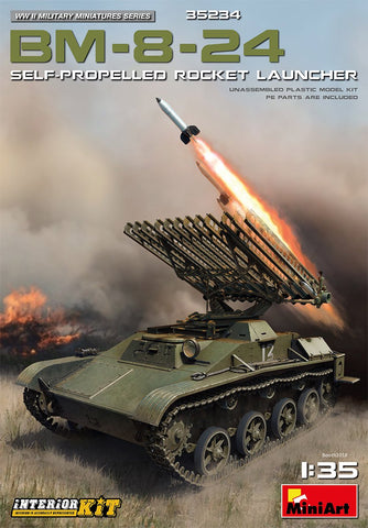 MiniArt 1/35 BM8-24 Self-Propelled Rocket Launcher (New Tool) Kit