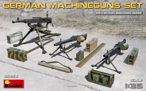 MiniArt Military 1/35 WWII German Machine Guns & Equipment Kit