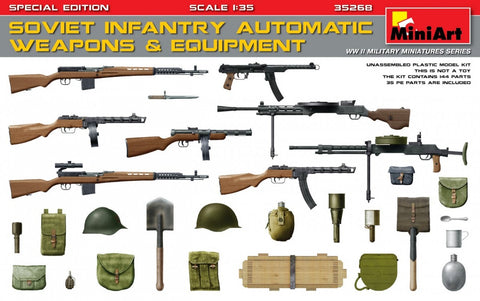MiniArt Military 1/35 Soviet Infantry Automatic Weapons & Equipment Special Edition Kit