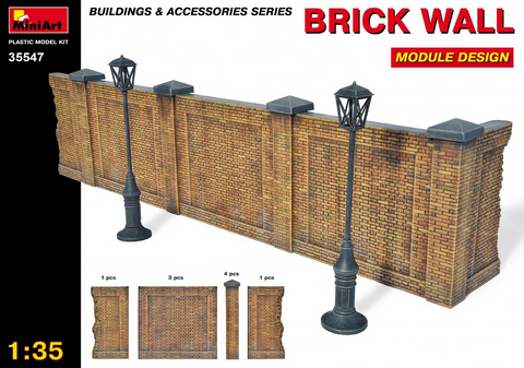MiniArt 1/35 Brick Type Wall Module Design Kit