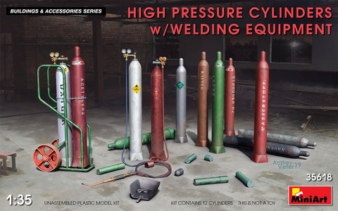 MiniArt Military 1/35 High Pressure Cylinders w/Welding Equipment (New Tool) Kit