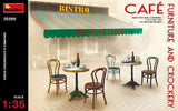 MiniArt 1/35 Café Furniture Tables & Chairs w/Accessories Kit