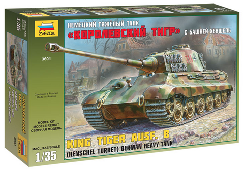 Zvezda 1/35 German King Tiger Ausf B Heavy Tank w/Henschel Turret Kit