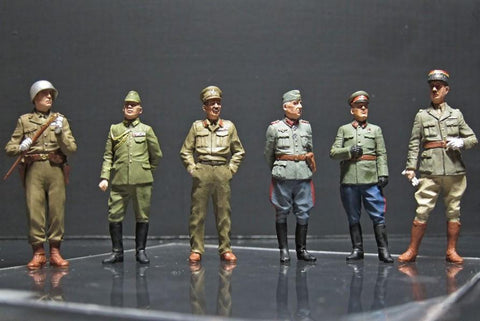 Master Box Ltd 1/35 WWII Famous Generals (6) Kit