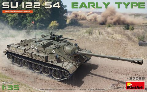 MiniArt Military 1/35 Soviet Su122-54 Early Type Self-Propelled Howitzer T54 Tank Chassis Kit