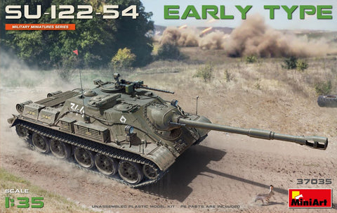 MiniArt Military 1/35 Soviet Su122-54 Early Type Self-Propelled Howitzer on T54 Tank Chassis (New Tool) Kit