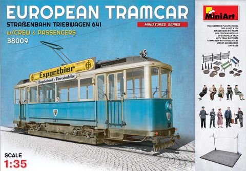 MiniArt Military 1/35 European Tramcar 641 w/Crew, Passengers, Street Access & Tram Line Base Kit