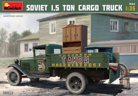 MiniArt 1/35 Soviet 1.5-Ton Cargo Truck (New Tool) Kit