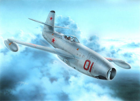 Special Hobby 1/72 Yak23 Flora Red & White Stars Fighter Kit