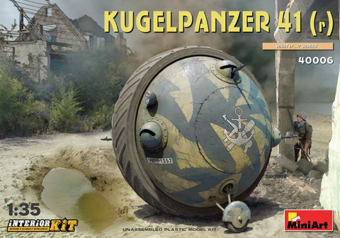MiniArt Military 1/35 Kugelpanzer 41(r) Ball Tank w/Interior (US, German & Aussie Markings) Kit