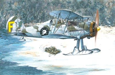 Roden 1/48 Gloster Gladiator MkII BiPlane Fighter w/Skis Kit