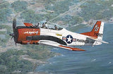 This is a plastic model assembly kit of the Roden Aircraft 1/48 Scale T28B Trojan USN/USMC Trainer