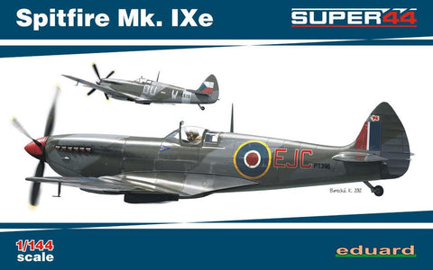 Eduard Aircraft 1/144 Spitfire Mk IXe Fighter Dual Combo Ltd. Edition Kit