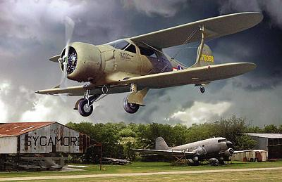Roden Aircraft 1/48 Beechcraft UC43 Staggerwing WWII USAAF Light Transport BiPlane Kit